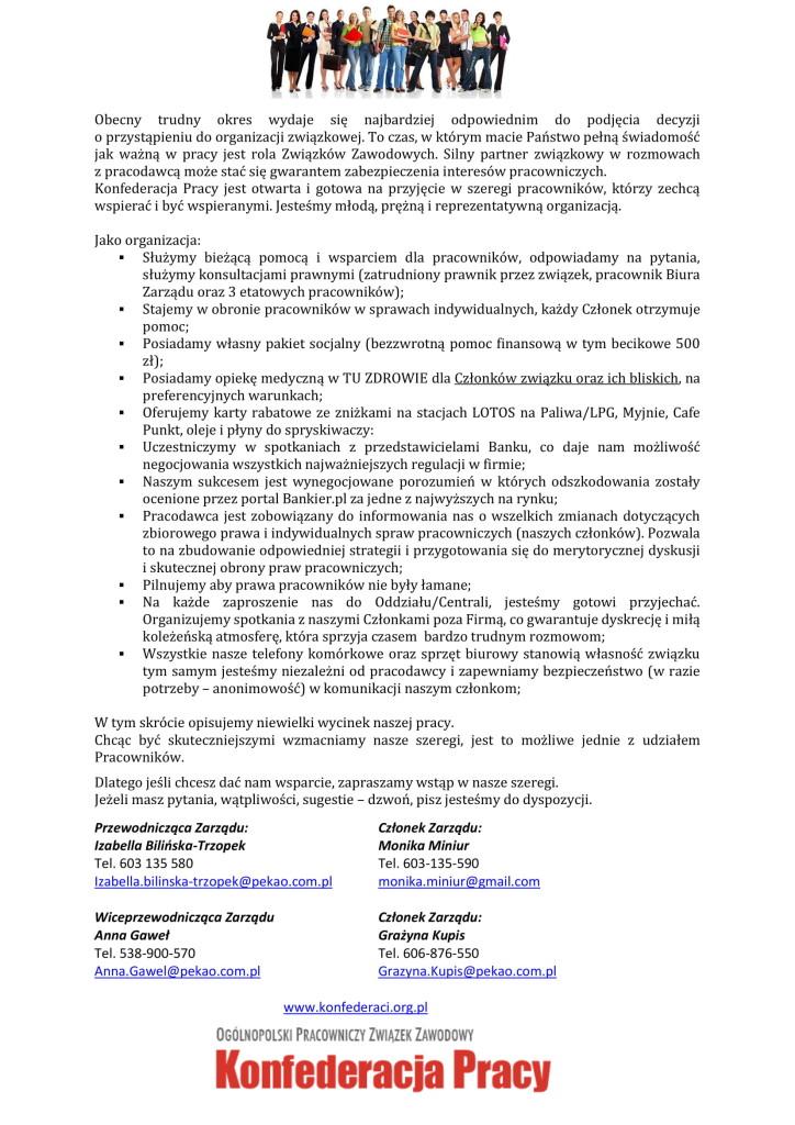 Ulotka Bank Pekao SA - KP-1